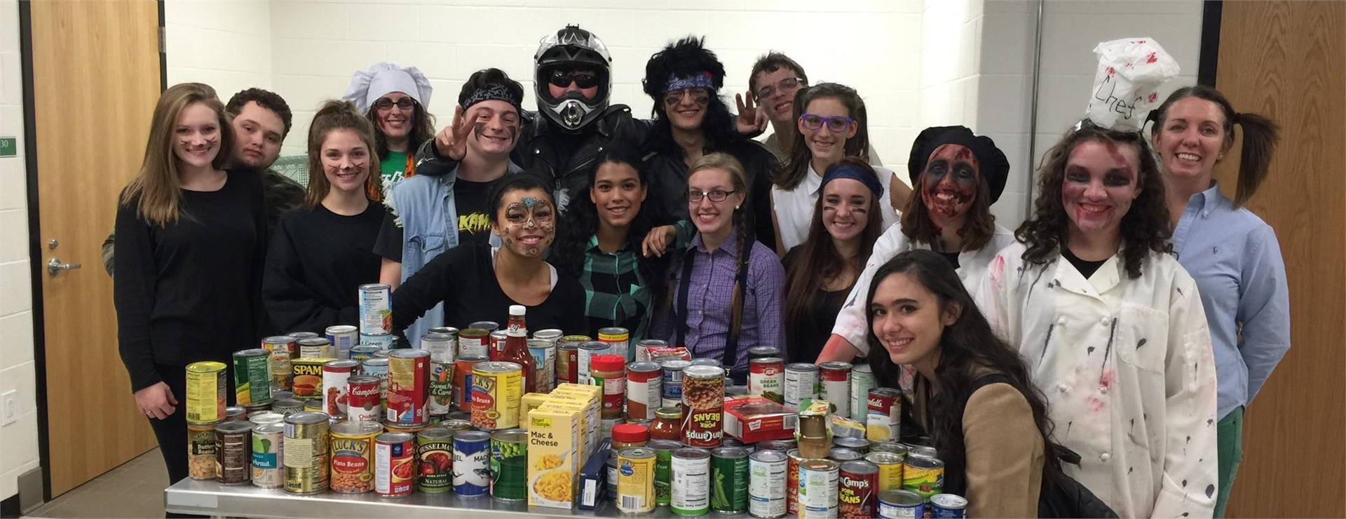 FCCLA went trick or treating for food for Thanksgiving food baskets